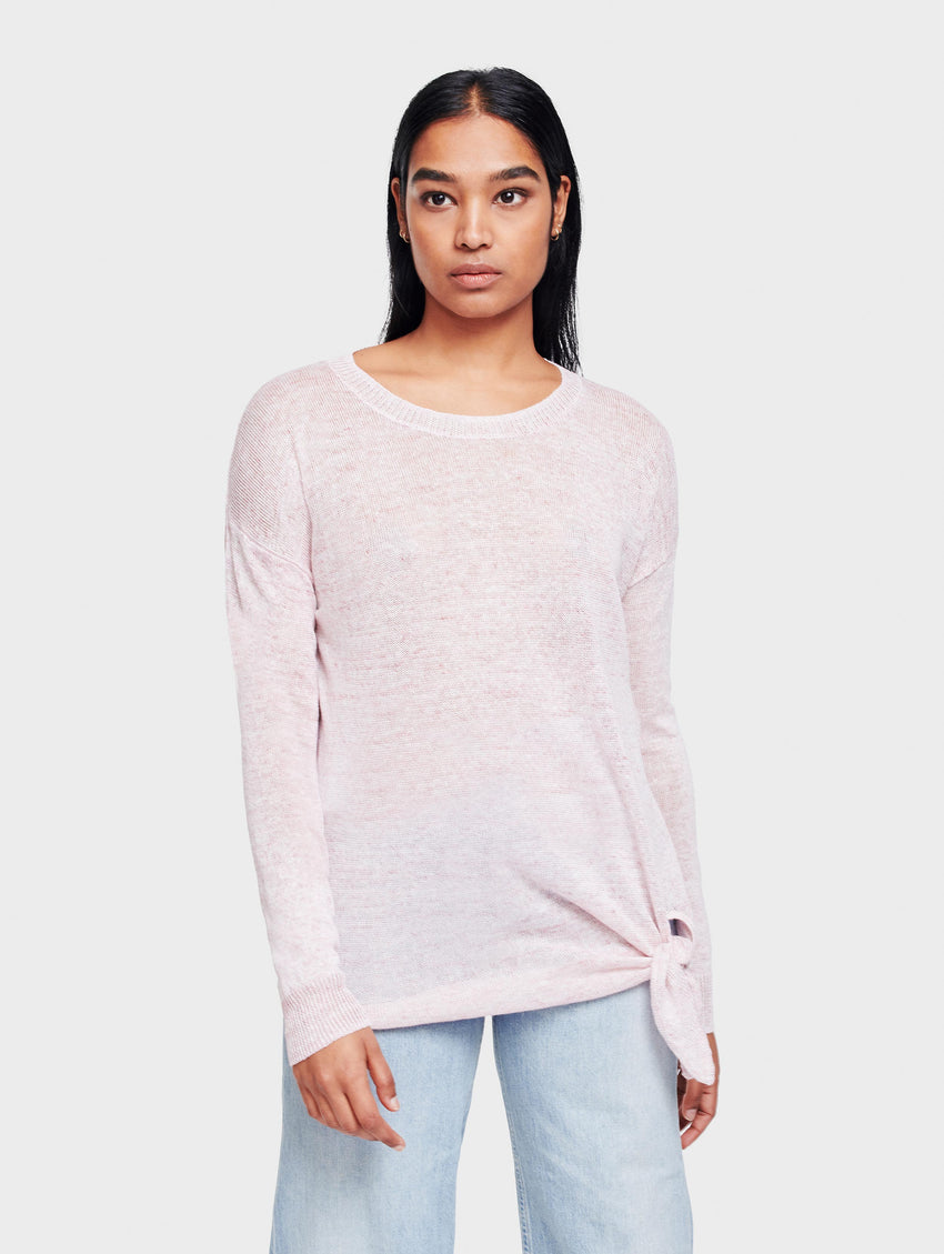 Linen Knotted Crewneck