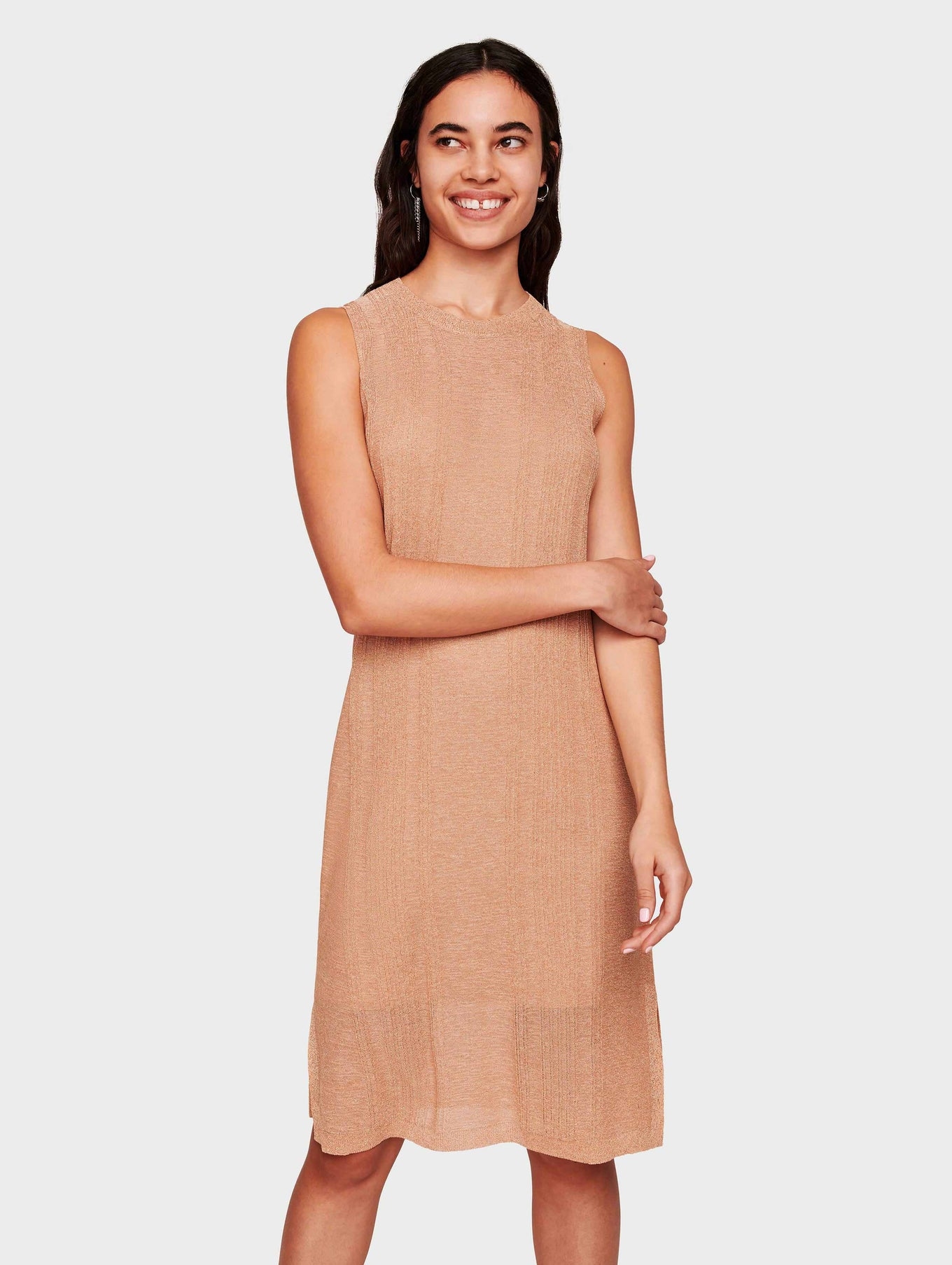 Italian Summer Shine Tank Dress - Golden Peach - Image 1