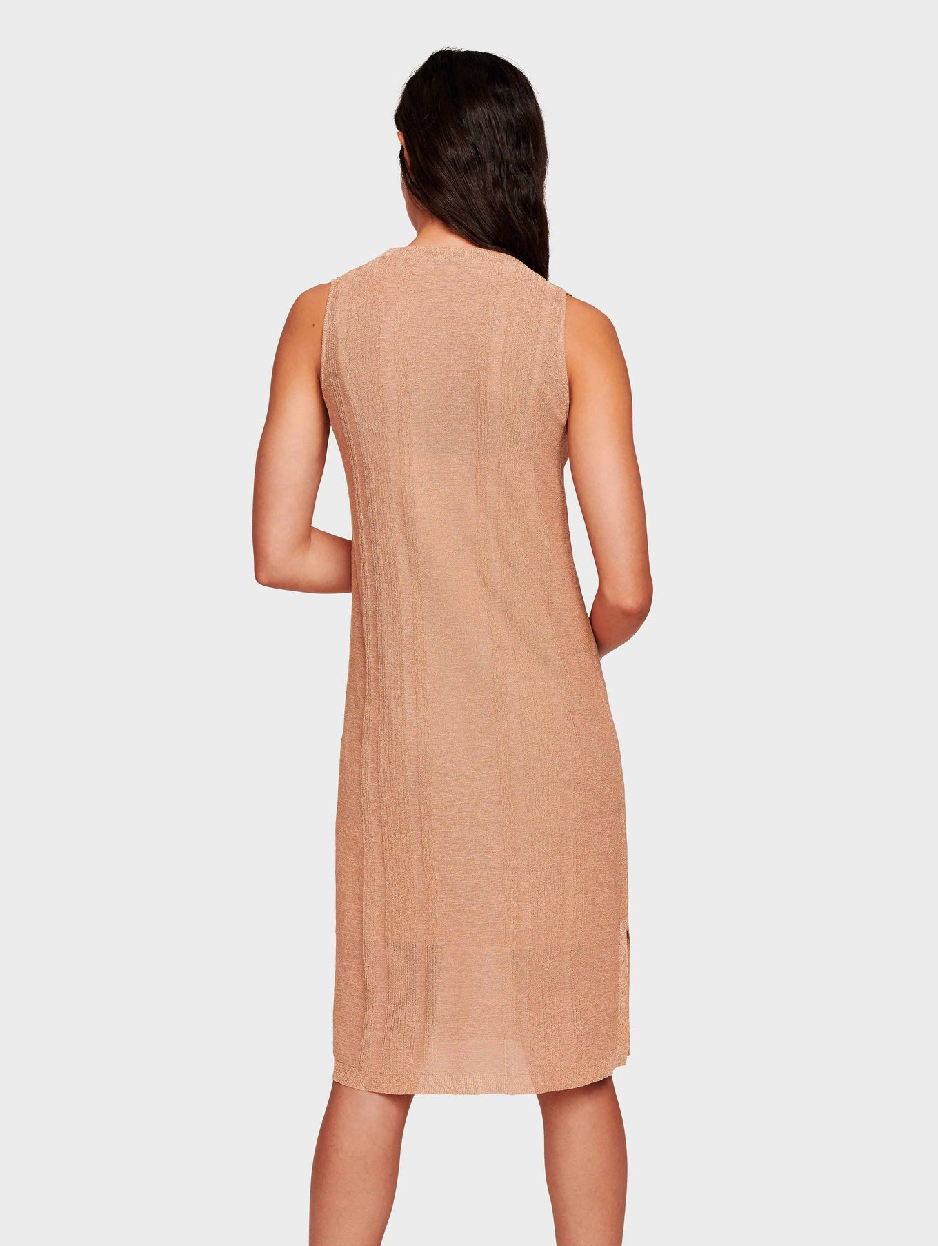 Italian Summer Shine Tank Dress - Golden Peach - Image 3