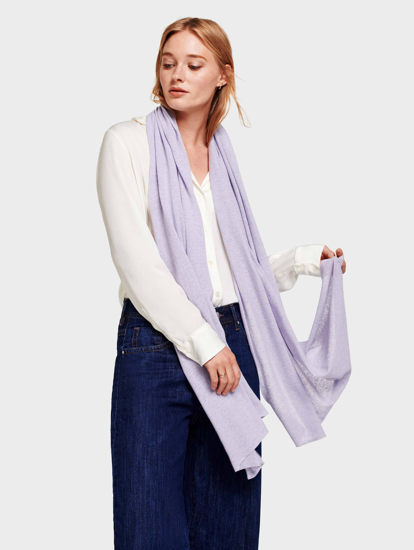 Mini Linen Travel Wrap - Lilac Mist - Image 1