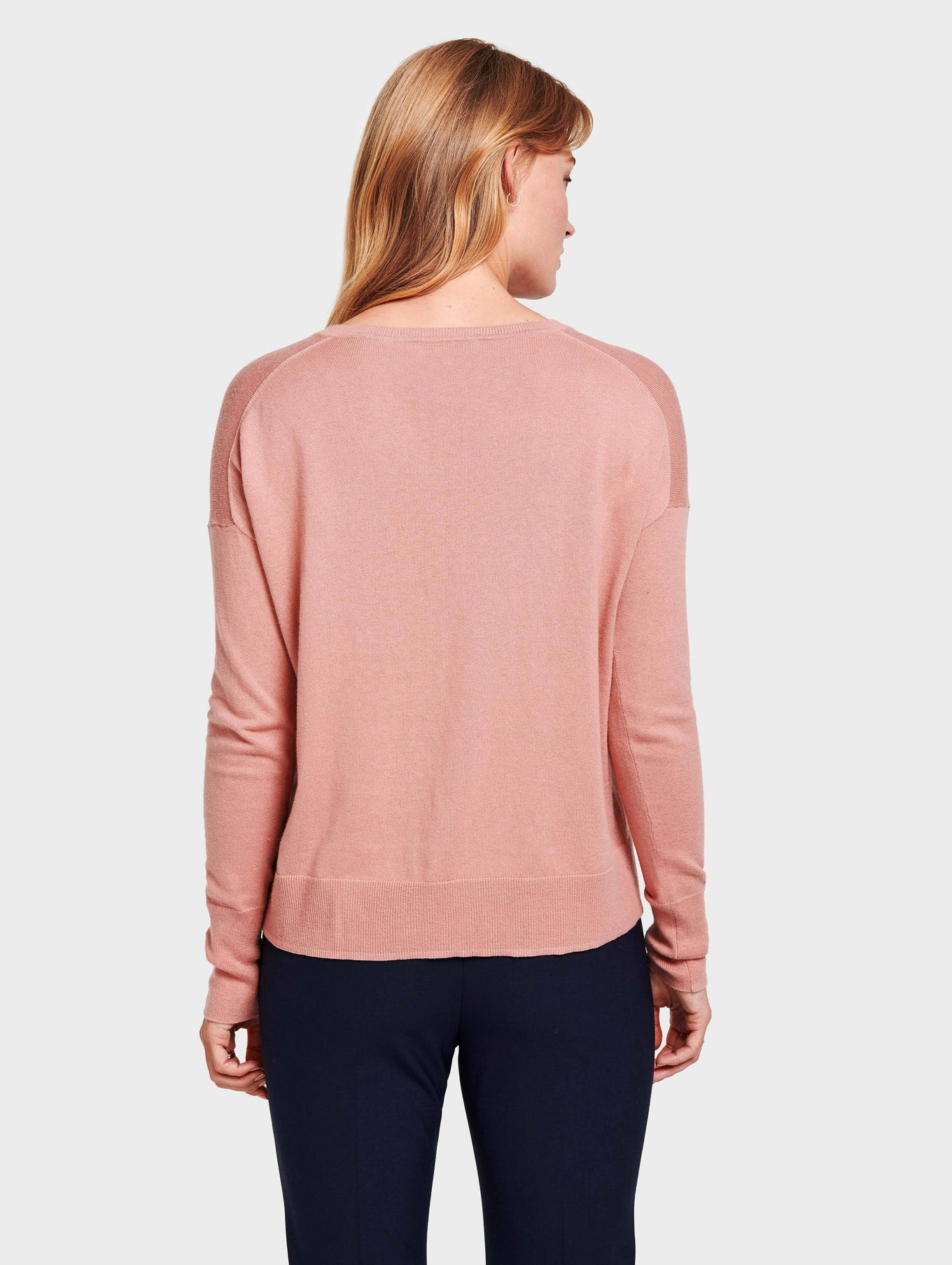 Drop Shoulder V Neck - Canyon Rose Heather - Image 4