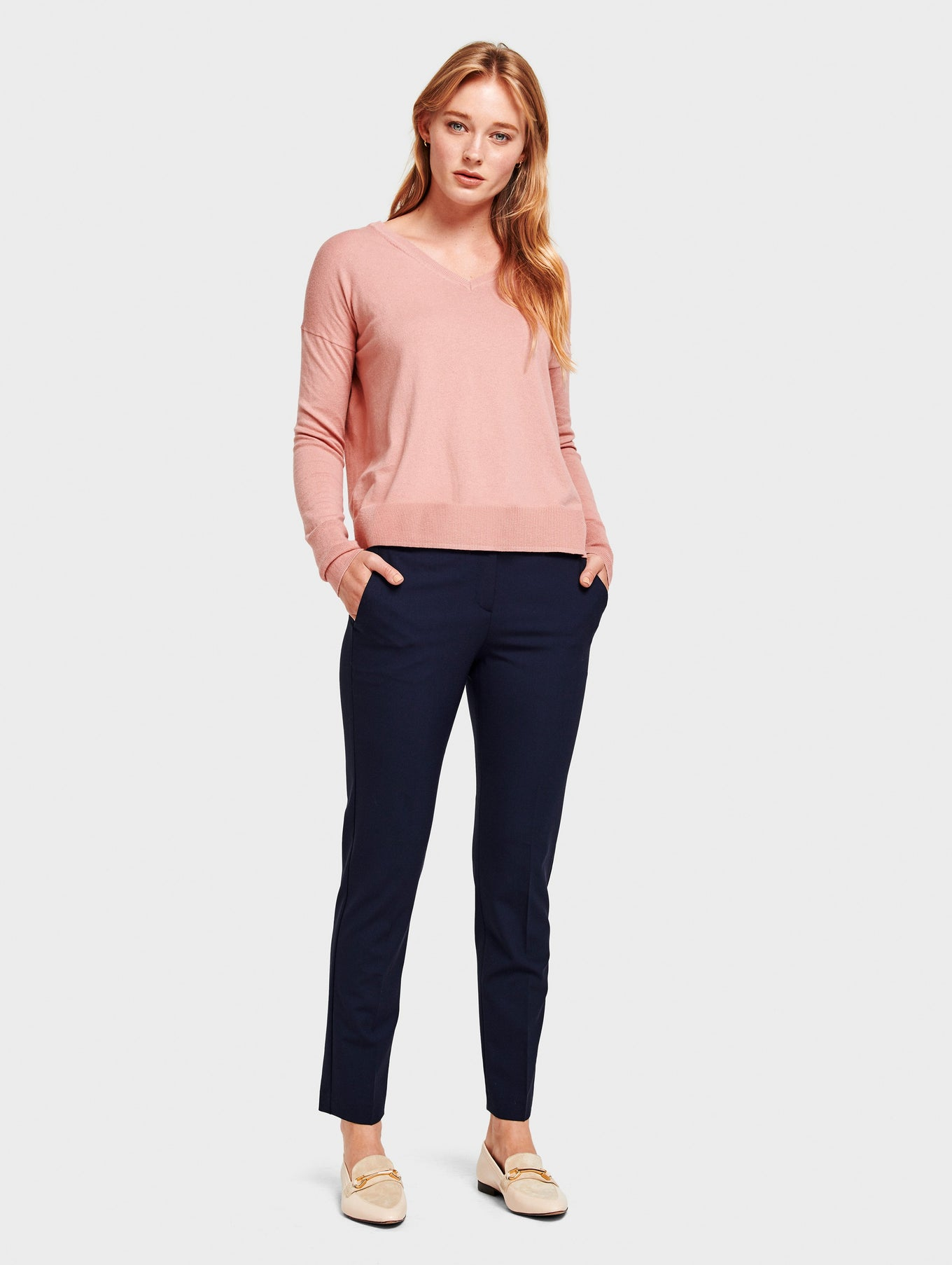 Drop Shoulder V Neck - Canyon Rose Heather - Image 5