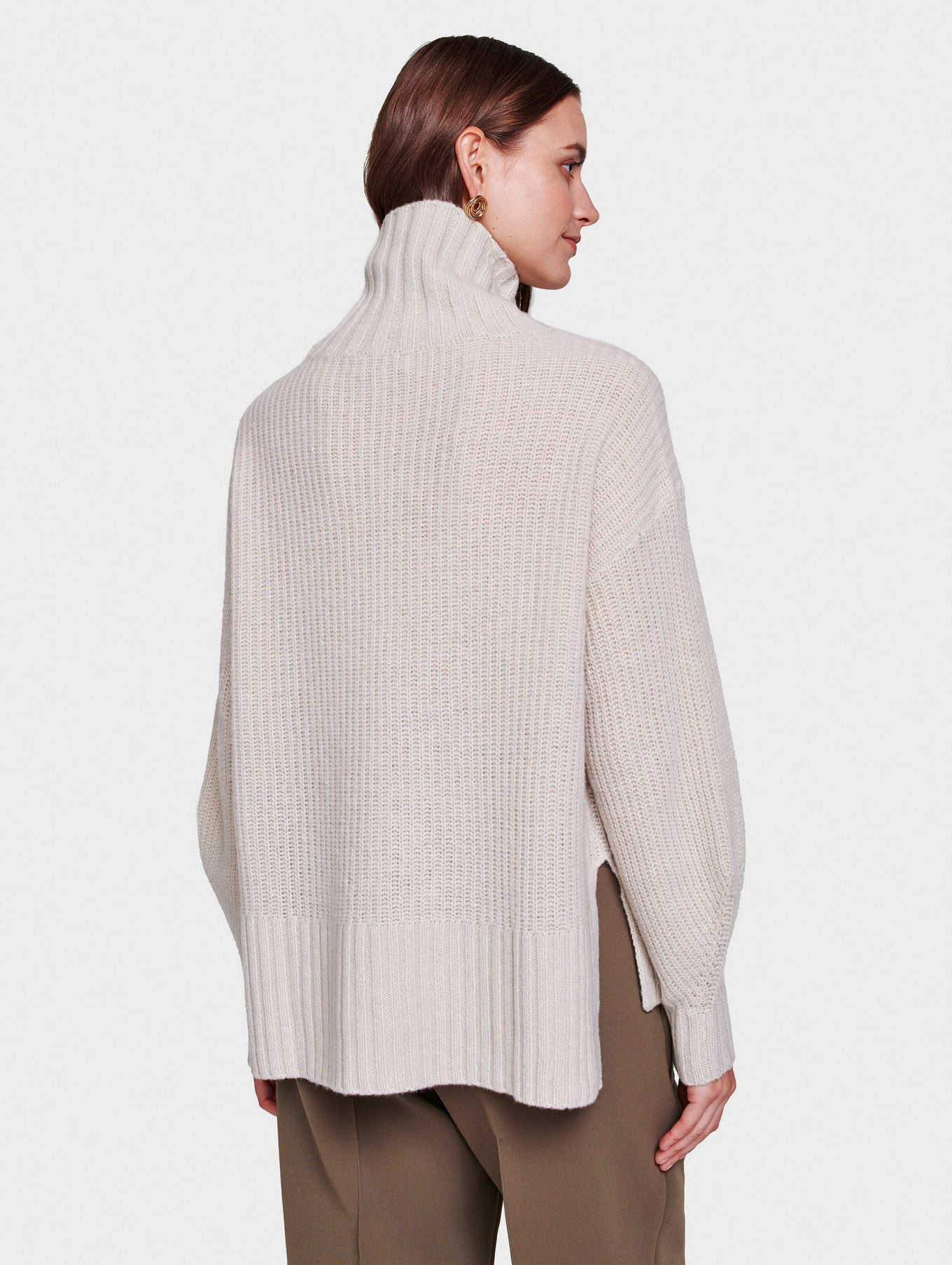 Recycled Cashmere Rib Turtleneck