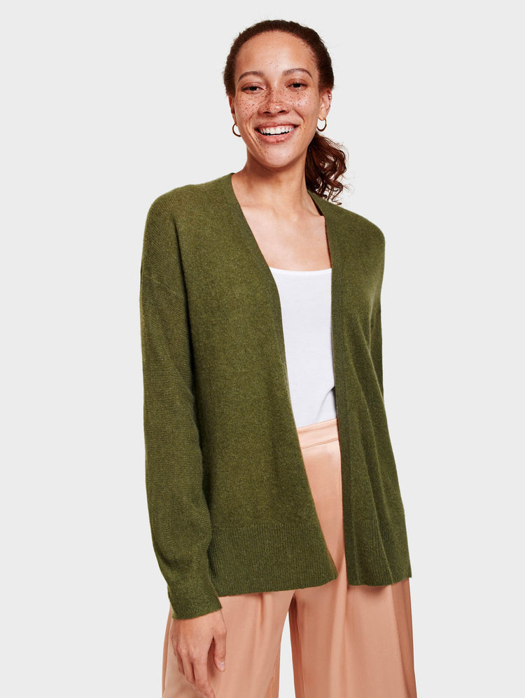 Cashmere Sculpted Sleeve Cardigan