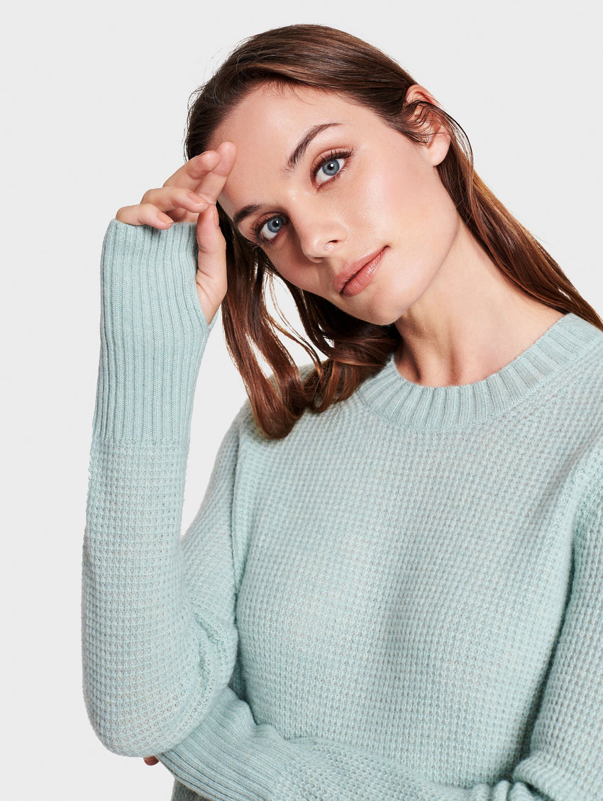 Cashmere Slim Thermal Crewneck