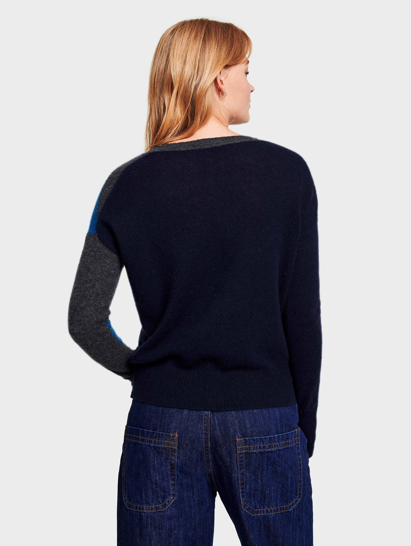 Cashmere Exploded Star Crewneck - Cosmic Teal Multi - Image 3