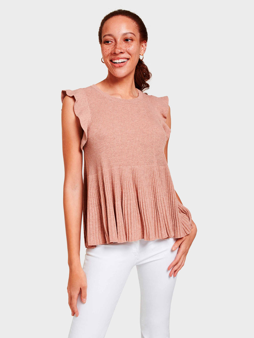 Ribbed Swing Top - Cactus Flower Heather - Image 1