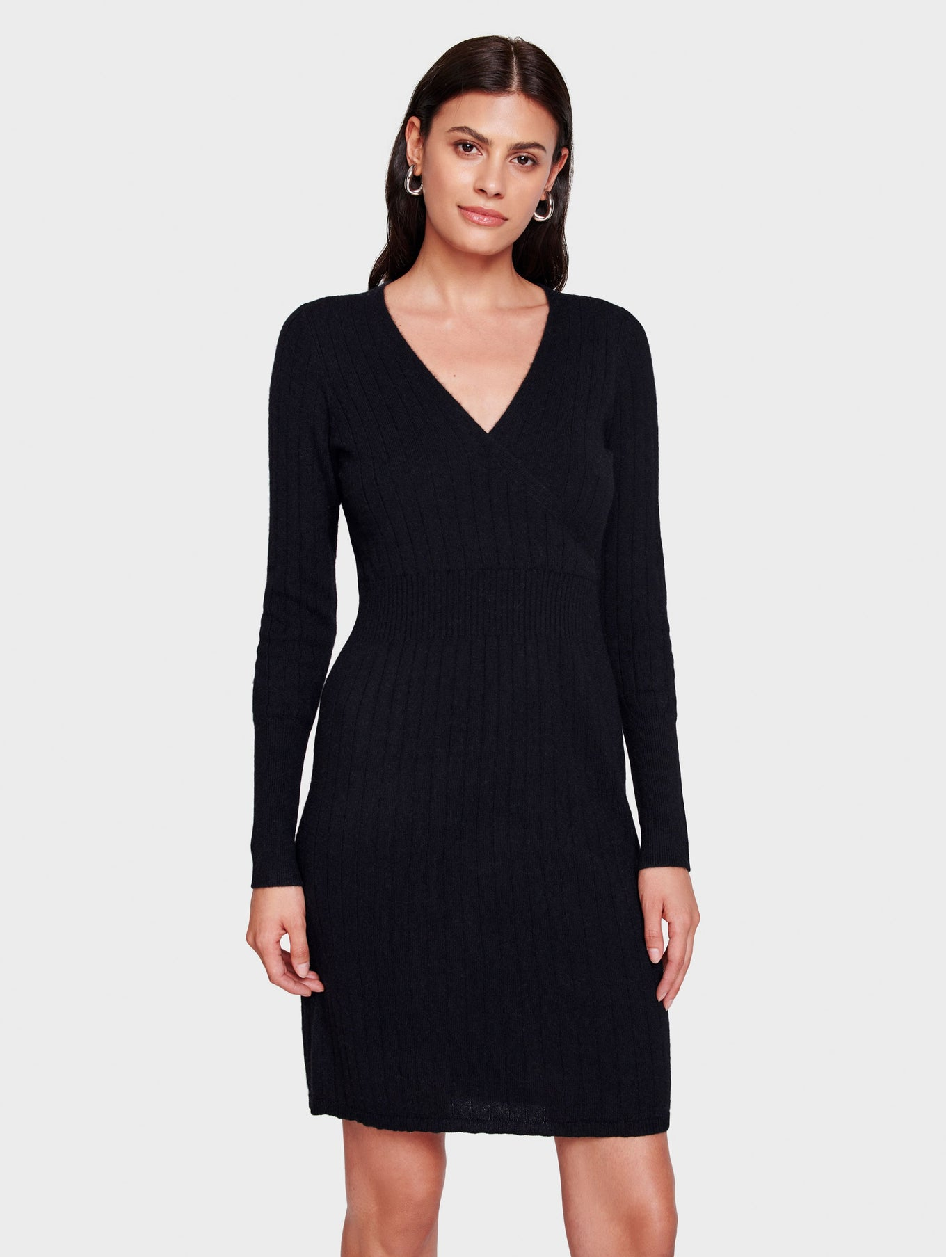 Cashmere Wrap Effect Dress