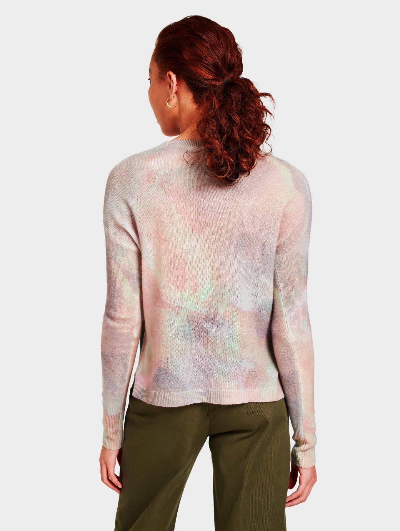 Cashmere Aura Print Pullover - Pink Multi - Image 4
