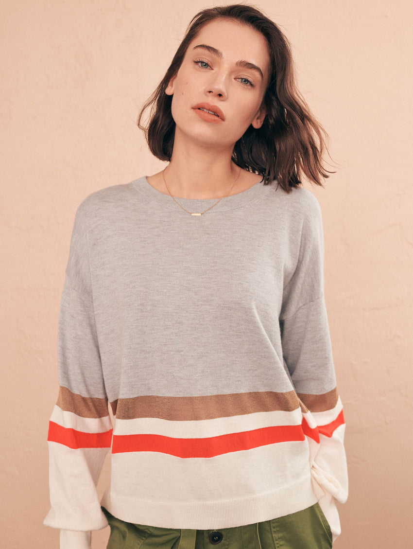 Mixed Stripe Pullover