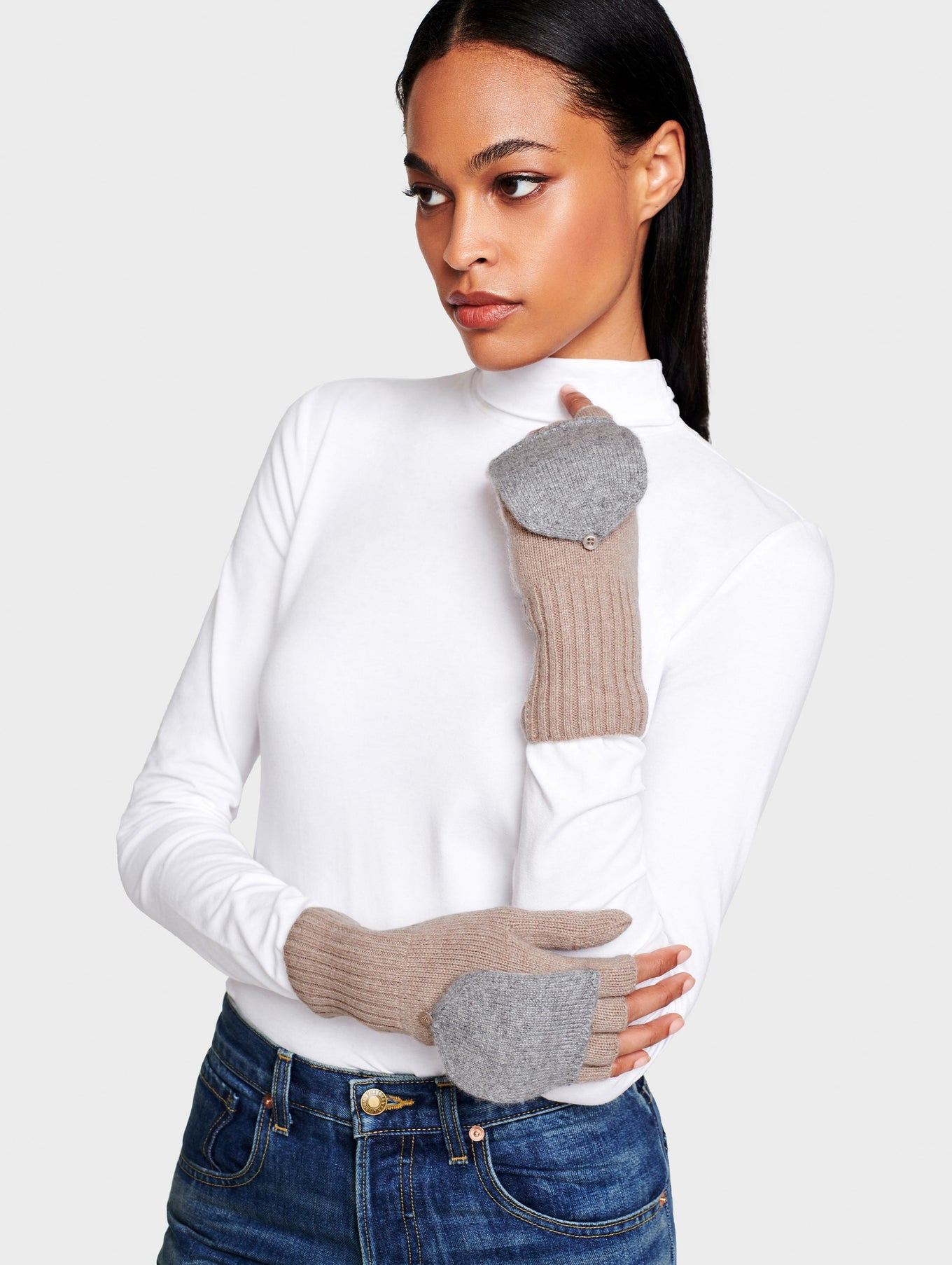 Cashmere Pop Top Glove