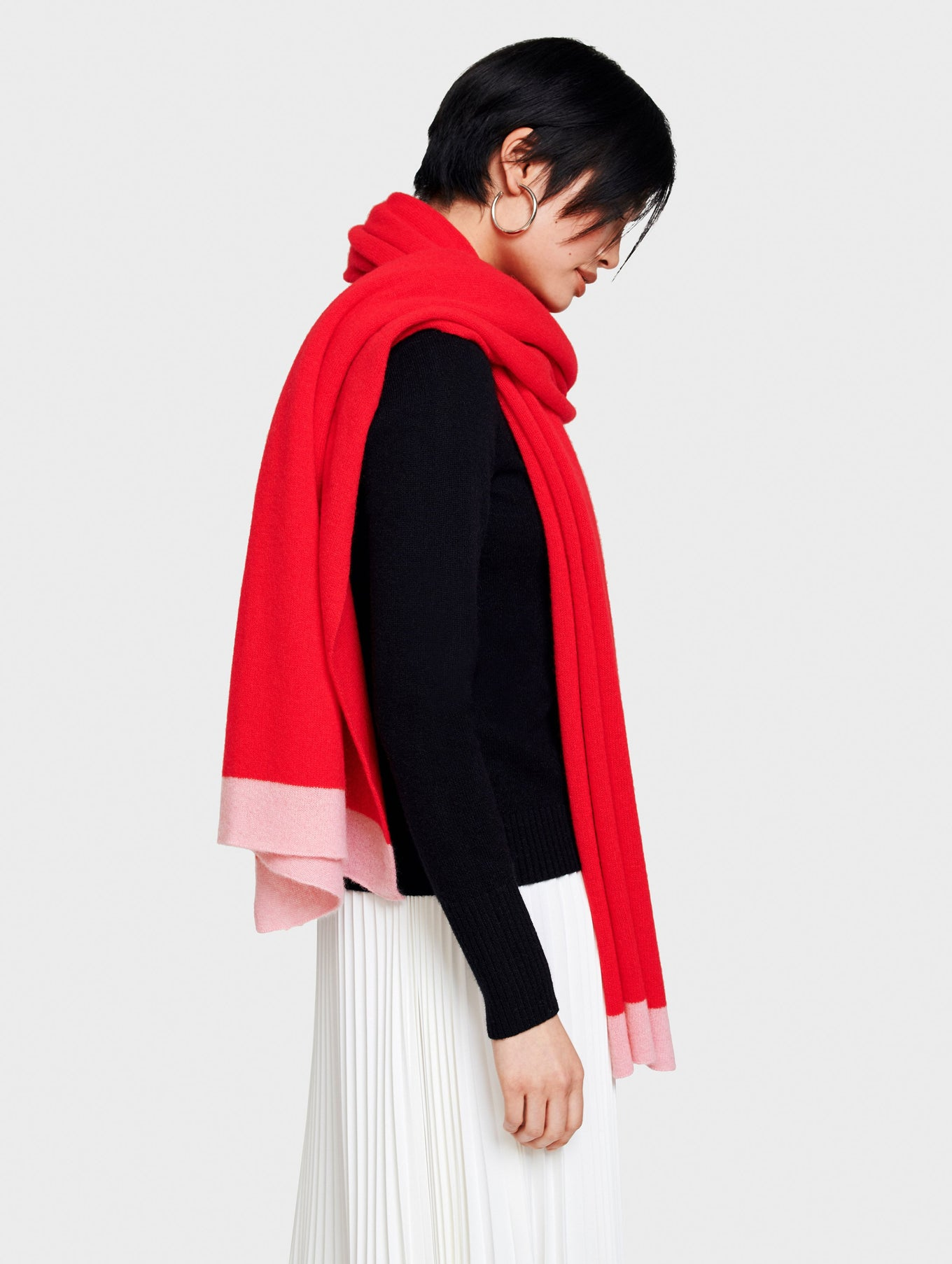 Go Red Mini Cashmere Travel Wrap