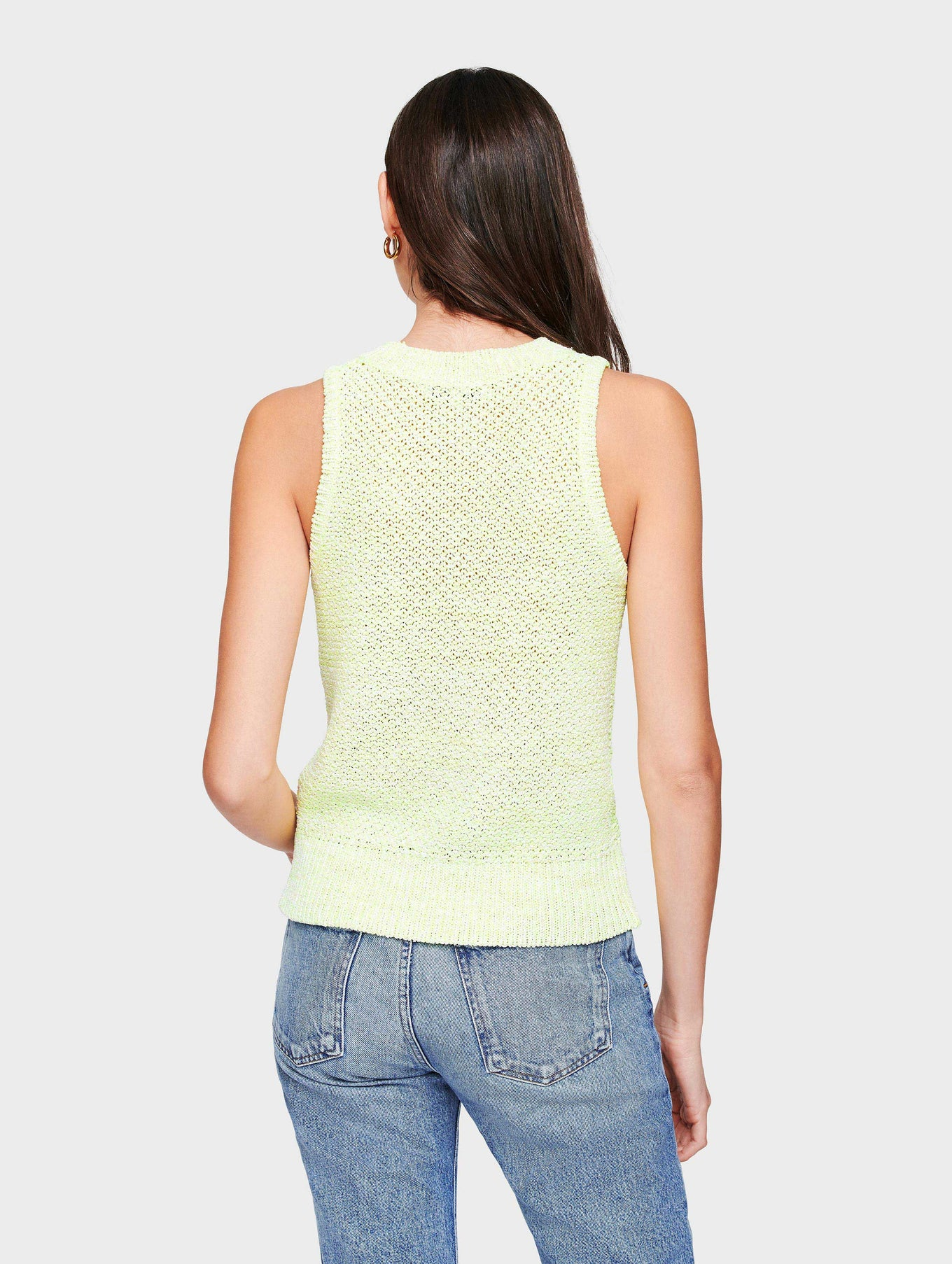Cotton Neon Cable Tank