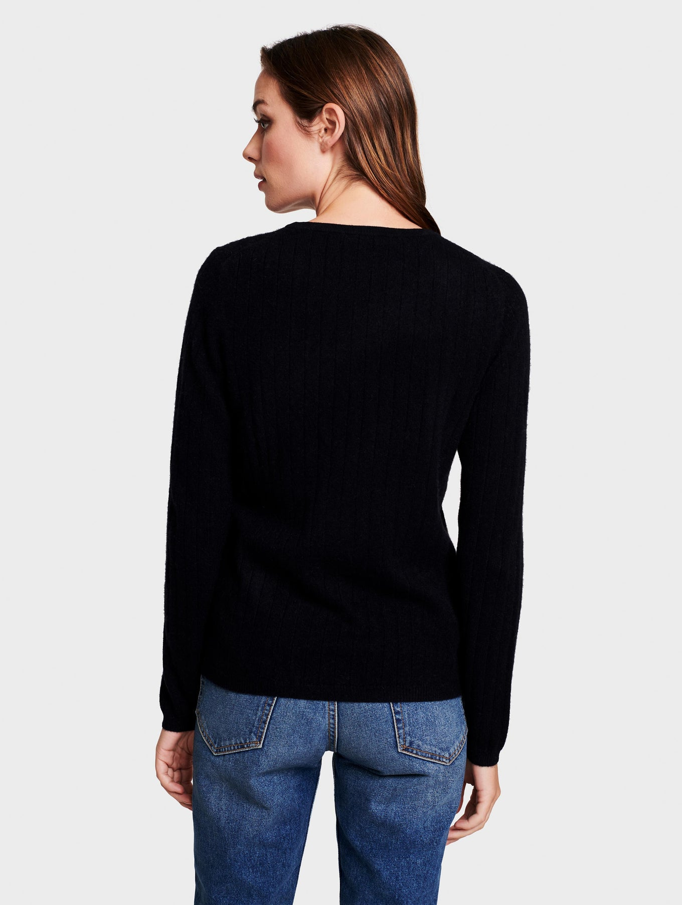 Cashmere Ribbed Crew