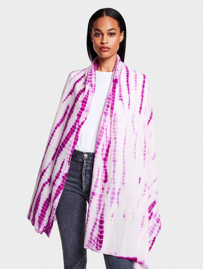 Tie Dye Mini Cashmere Travel Wrap