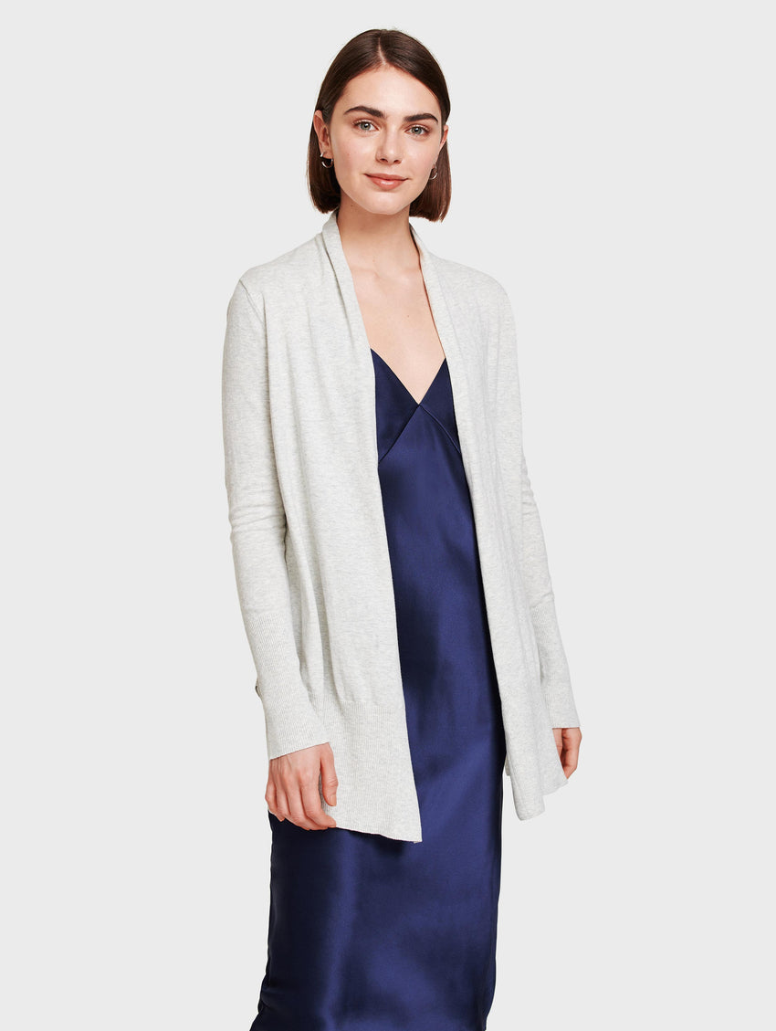 Essential Cotton Long Open Cardigan