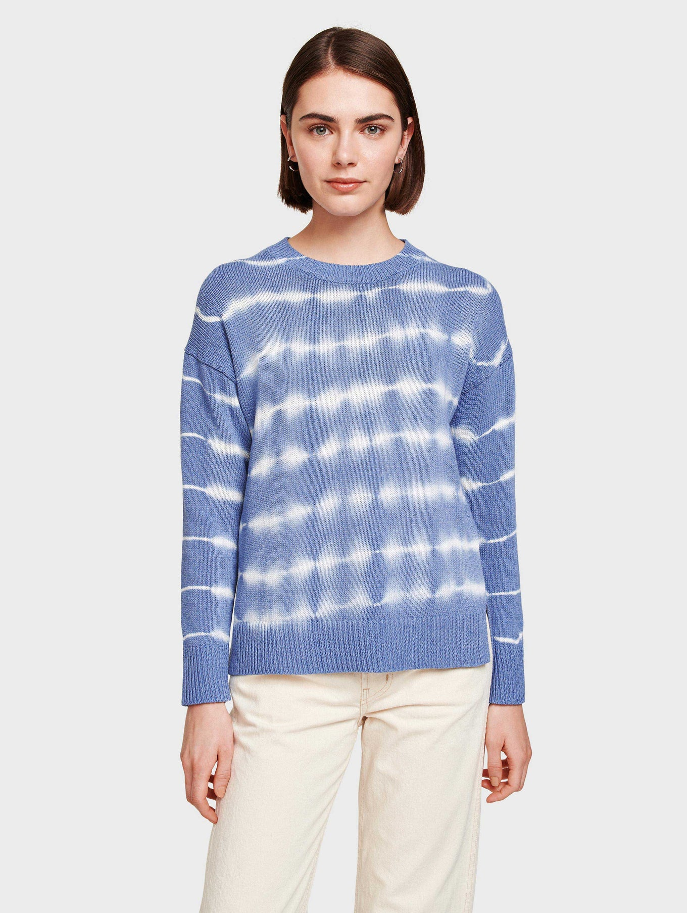 Cotton Tie Dye Stripe Crewneck