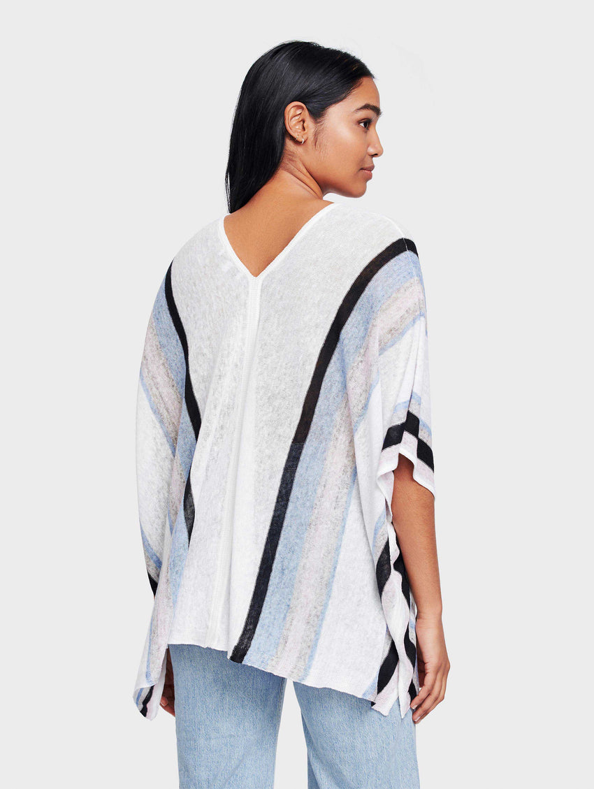 Linen Striped Poncho