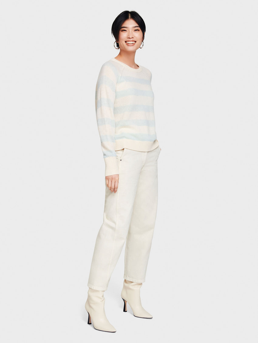 Essential Cashmere Printed Stripe Sweatshirt