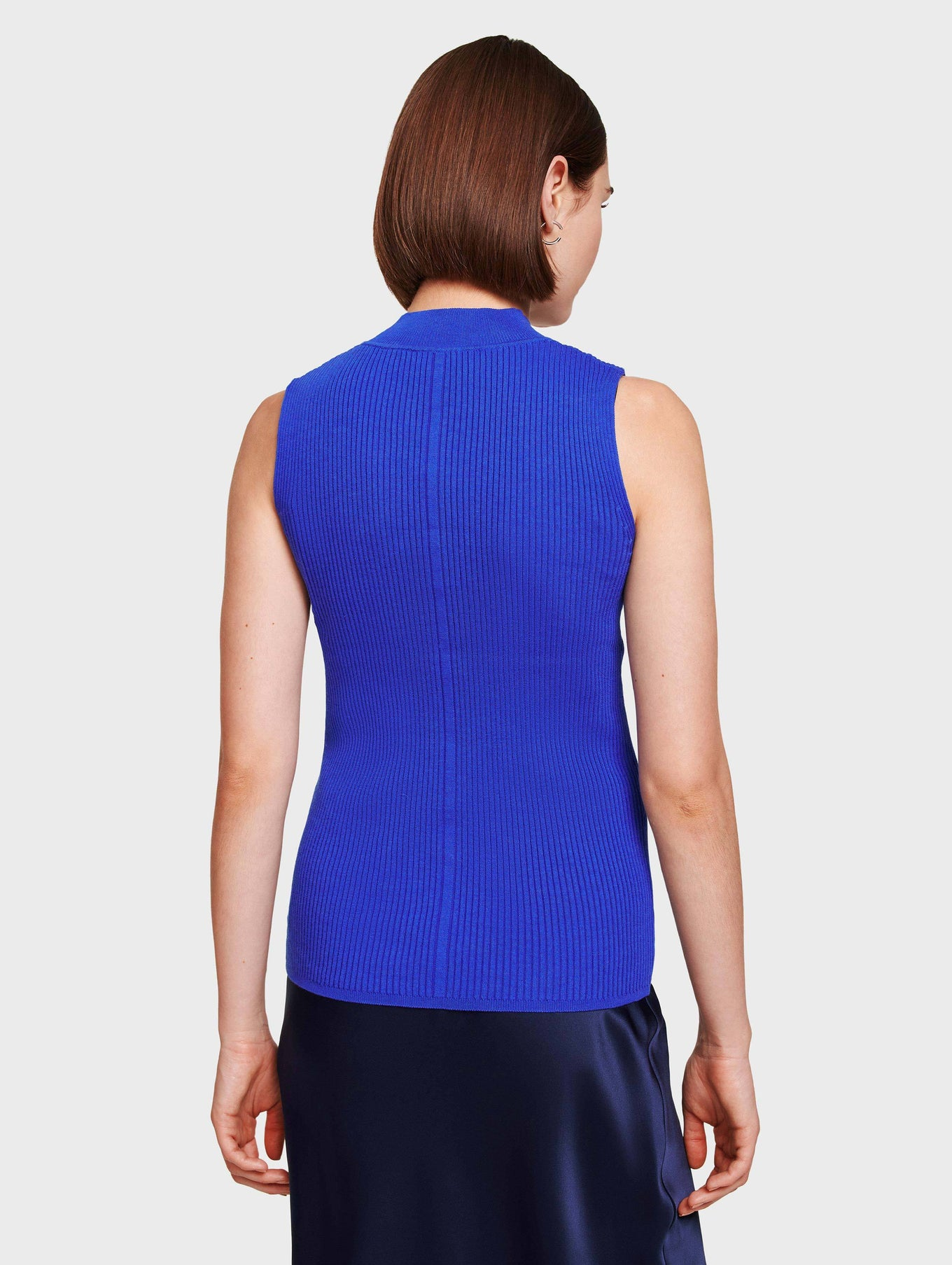 Essential Cotton Ribbed Mockneck Tank