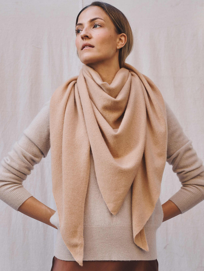 Cashmere Triangle Scarf