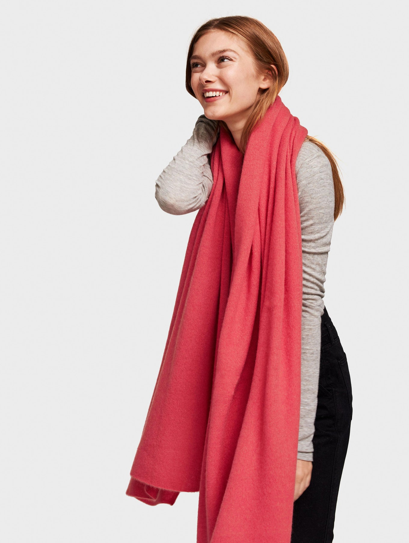 Cashmere Travel Wrap - Sangria Heather - Image 2