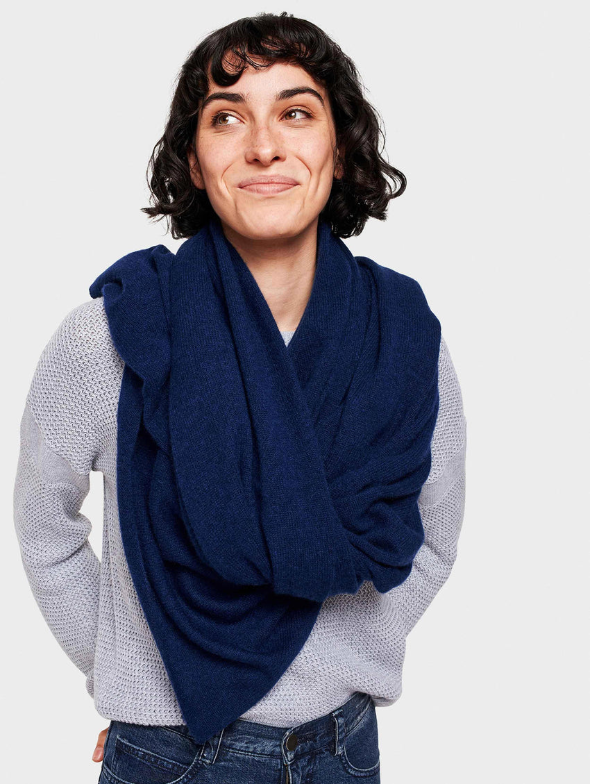 Cashmere Travel Wrap - Admiral Heather - Image 2