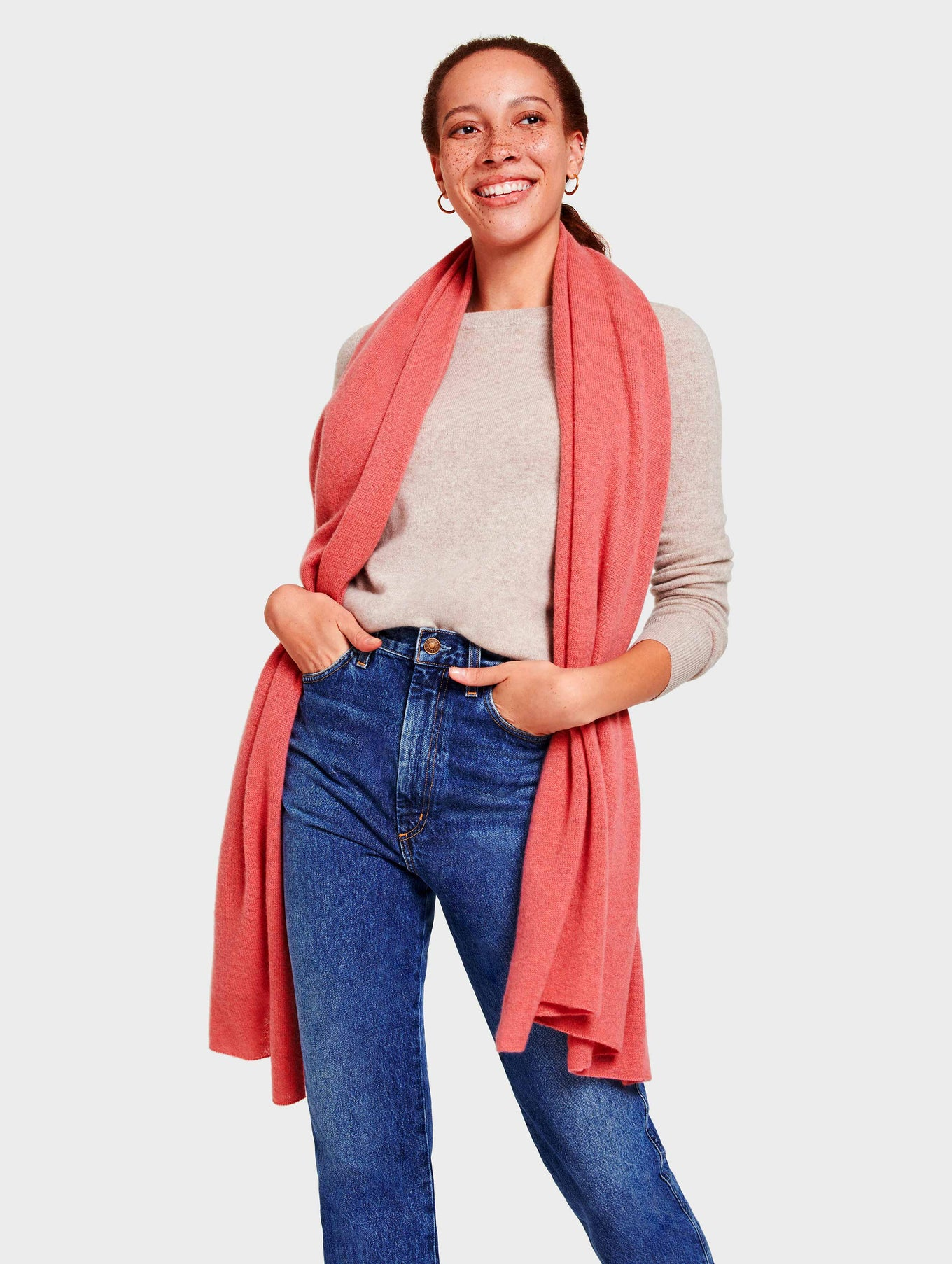 Cashmere Travel Wrap - Pink Opal Heather - Image 1