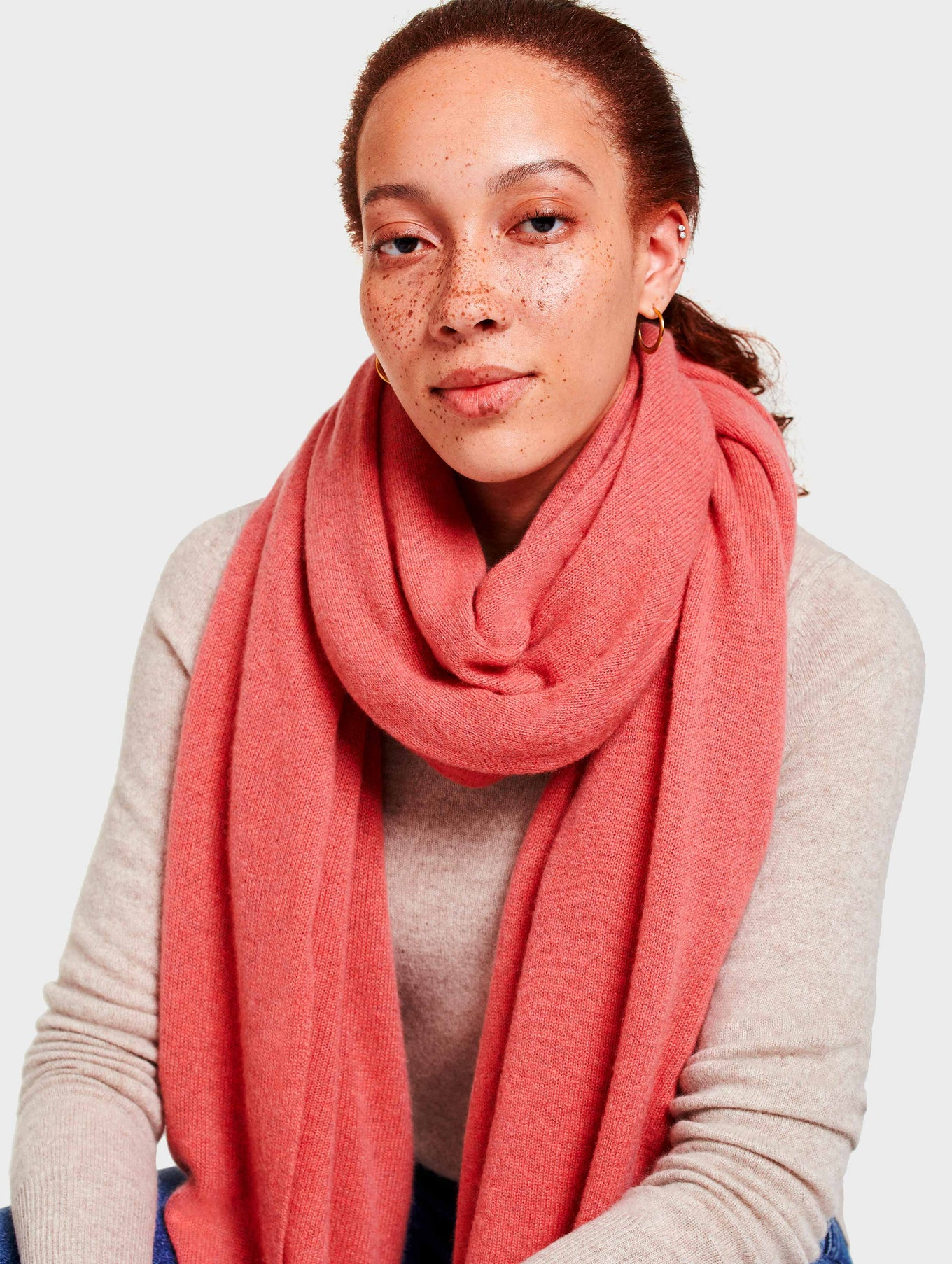 Cashmere Travel Wrap - Pink Opal Heather - Image 3