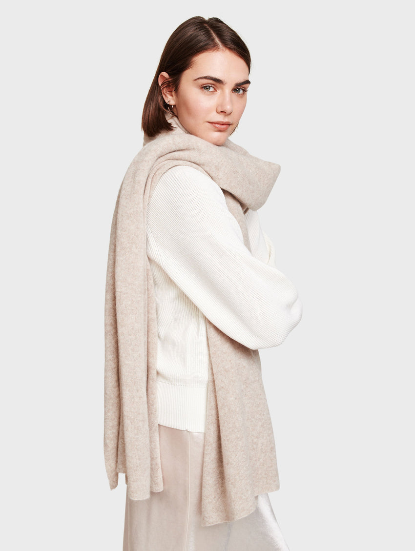 Cashmere Travel Wrap - Sand Wisp Heather - Image 1