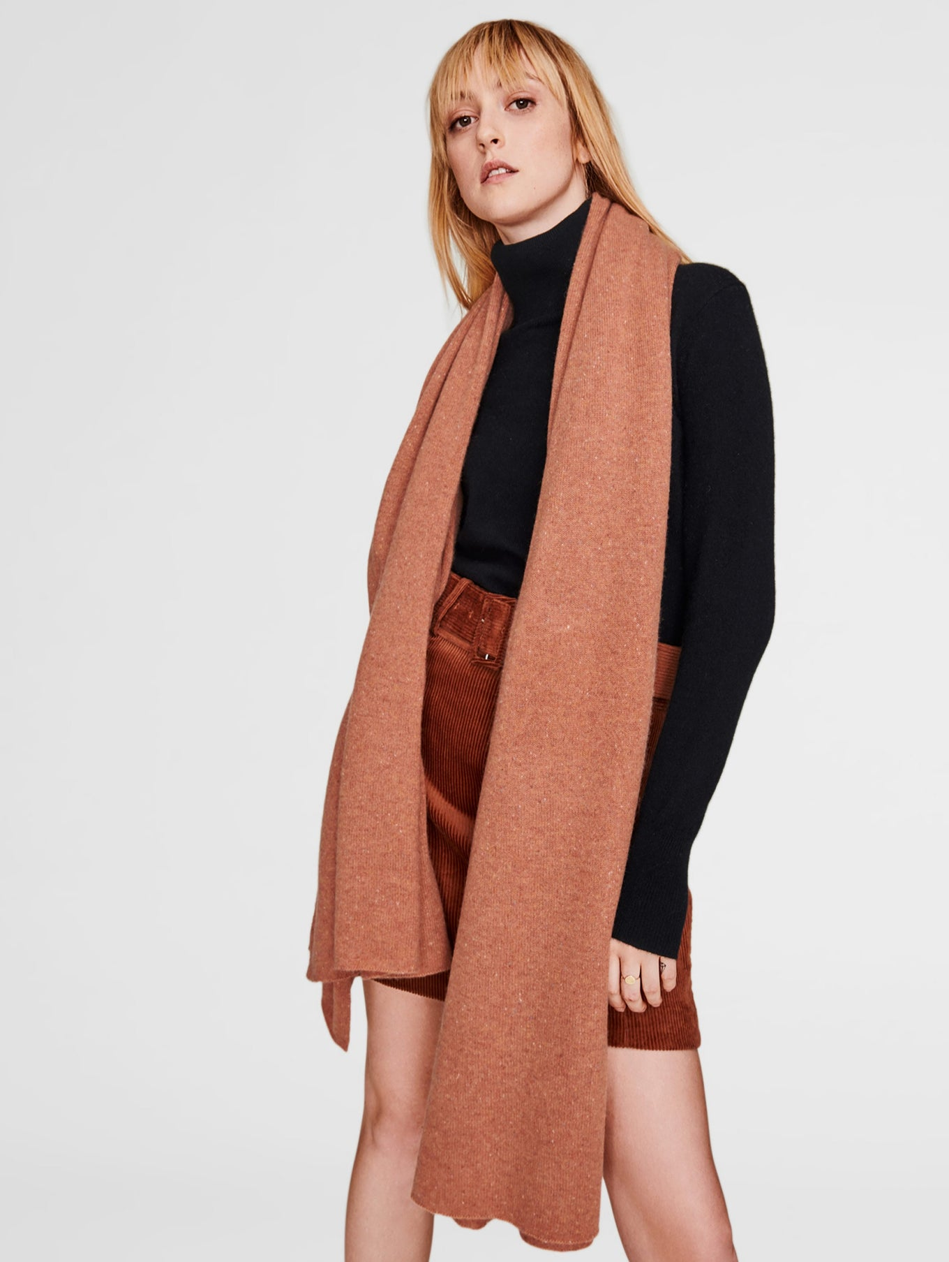 Cashmere Travel Wrap - Tan Tweed - Image 1