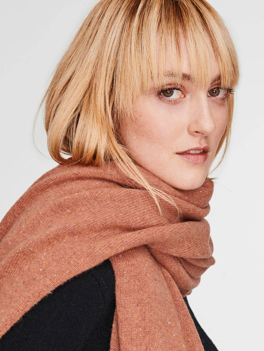 Cashmere Travel Wrap - Tan Tweed - Image 2