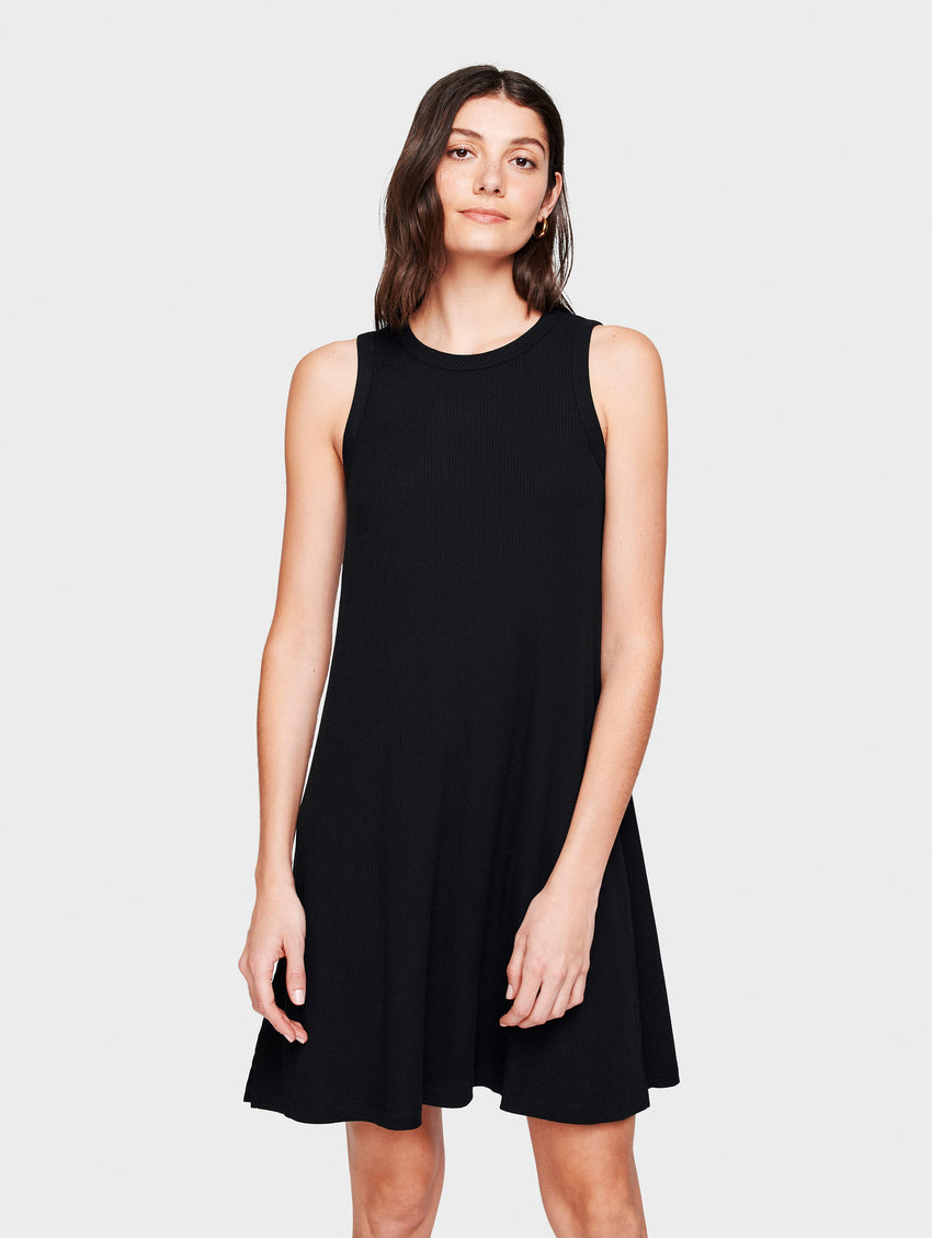 Cotton Ribbed Sleeveless Dress