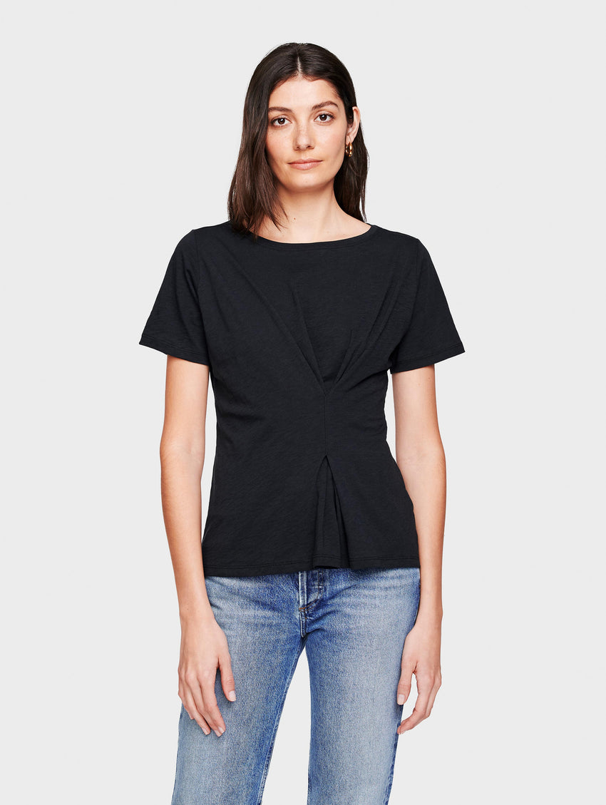 Cotton Slub Side Cinched Tee