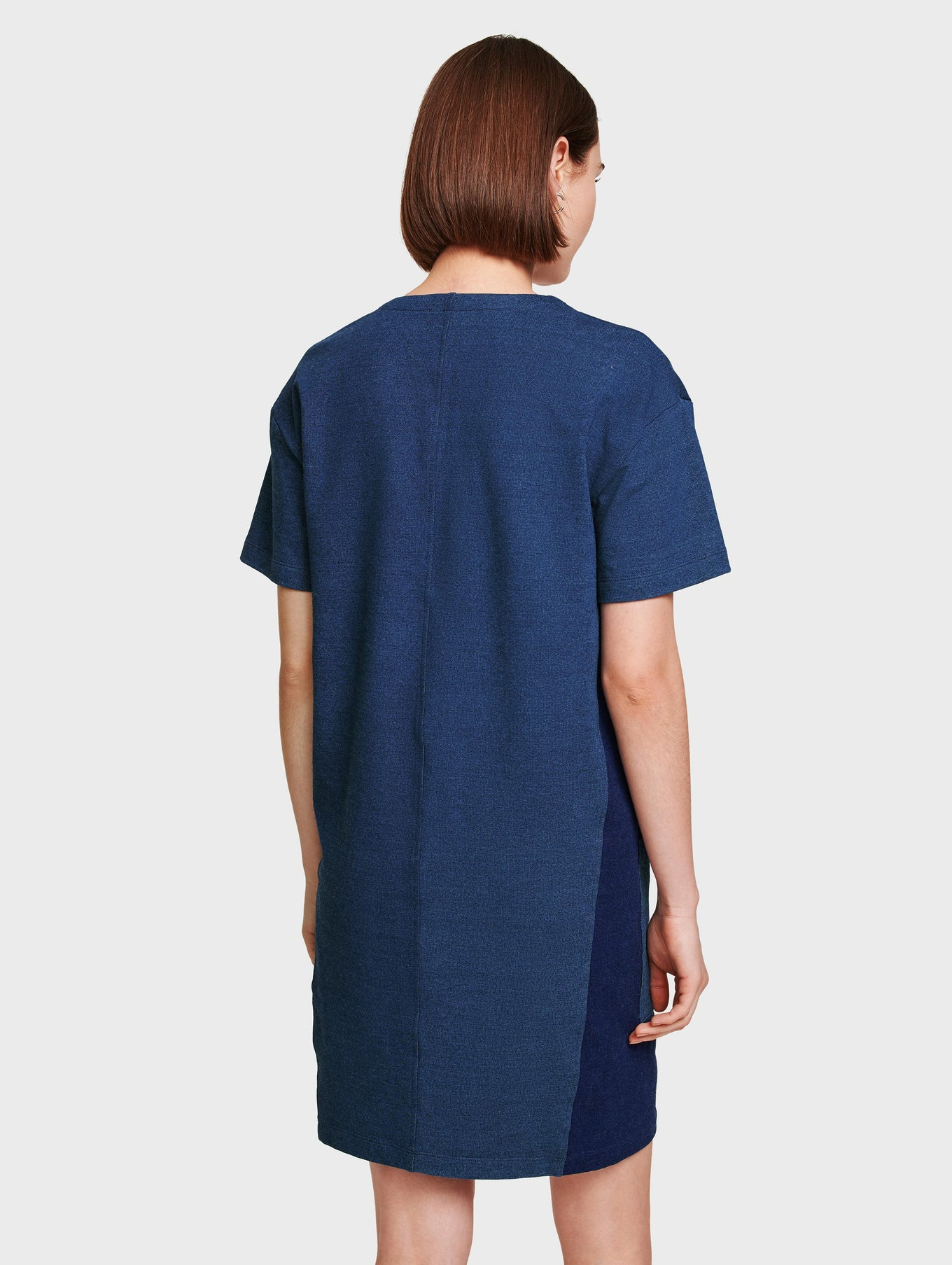 Denim Colorblock Dress