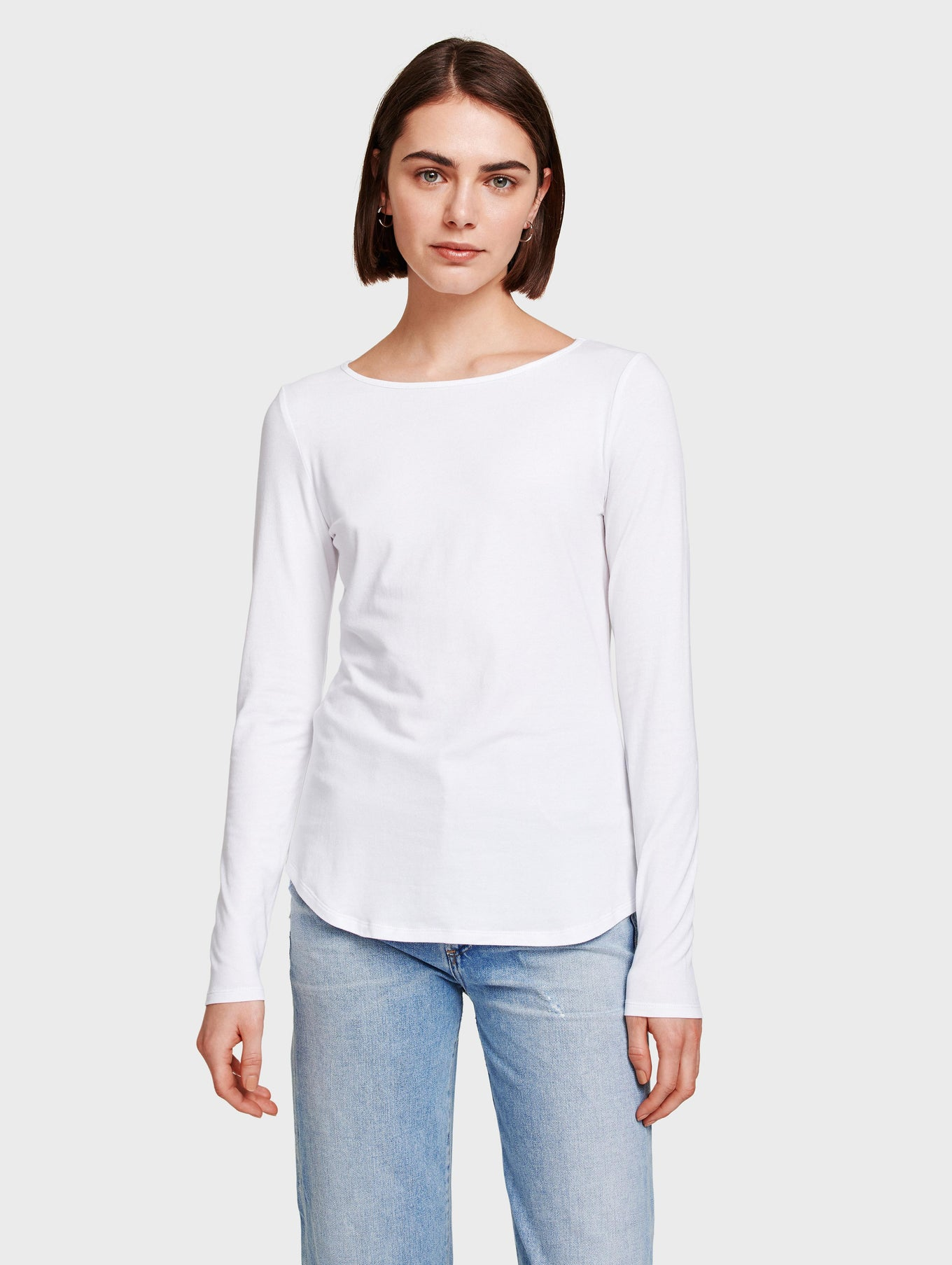 Cotton Modal Boat Neck Tee