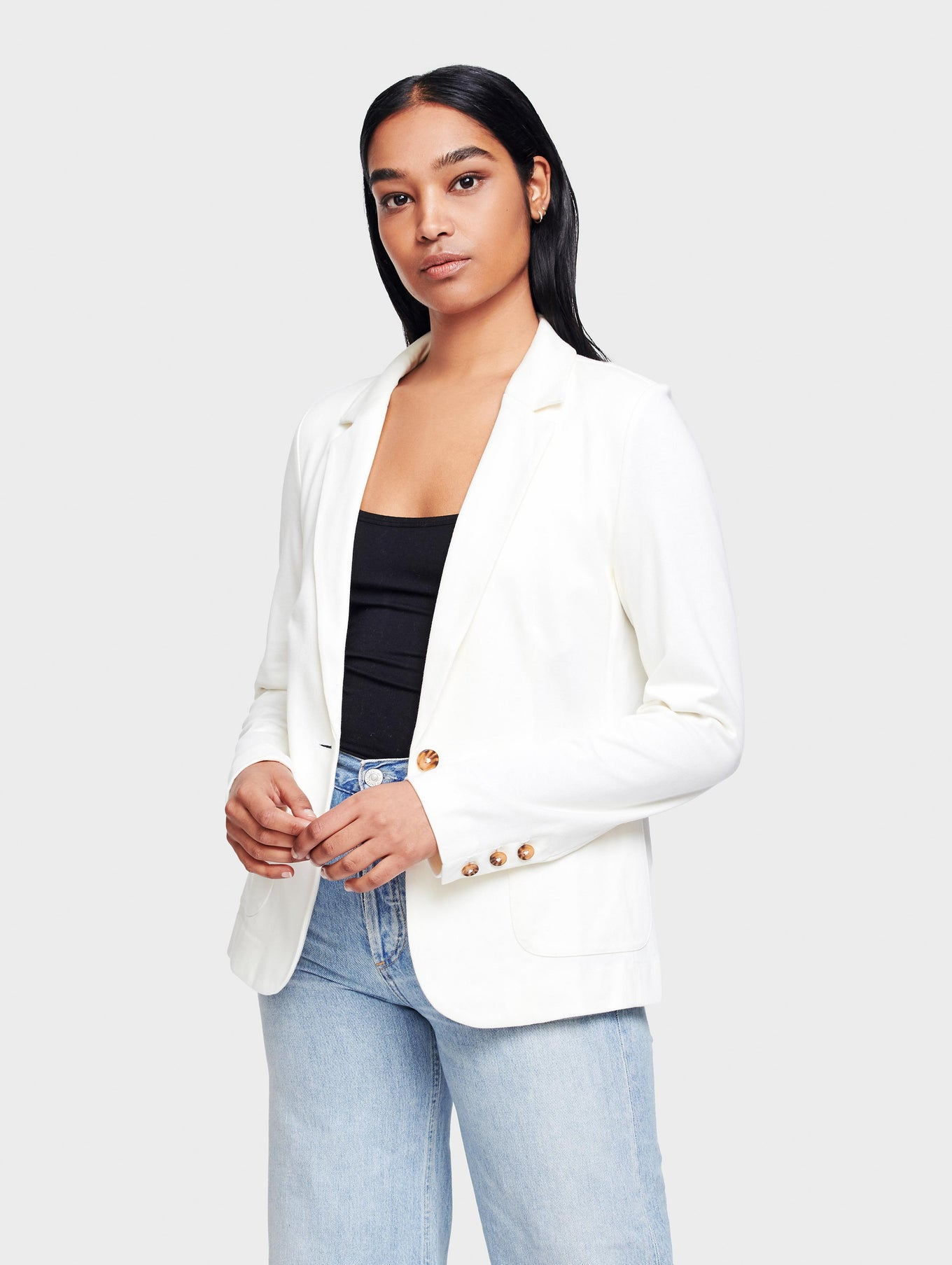 Combed Cotton Patch Pocket Blazer