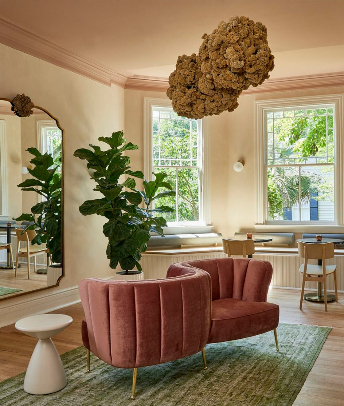 3. Incorporate Pink Seating for a Steal