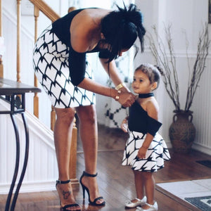 Casual black Mommy and Me dresses