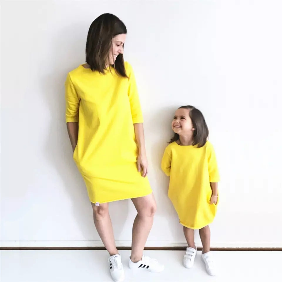 Yellow Mommy and Me dresses