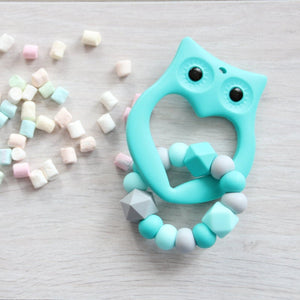 Mint Owl Baby Teether