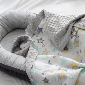 Light Grey Color Blanket With Stars