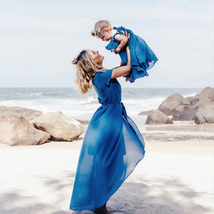 Blue Mommy And Me Dresses