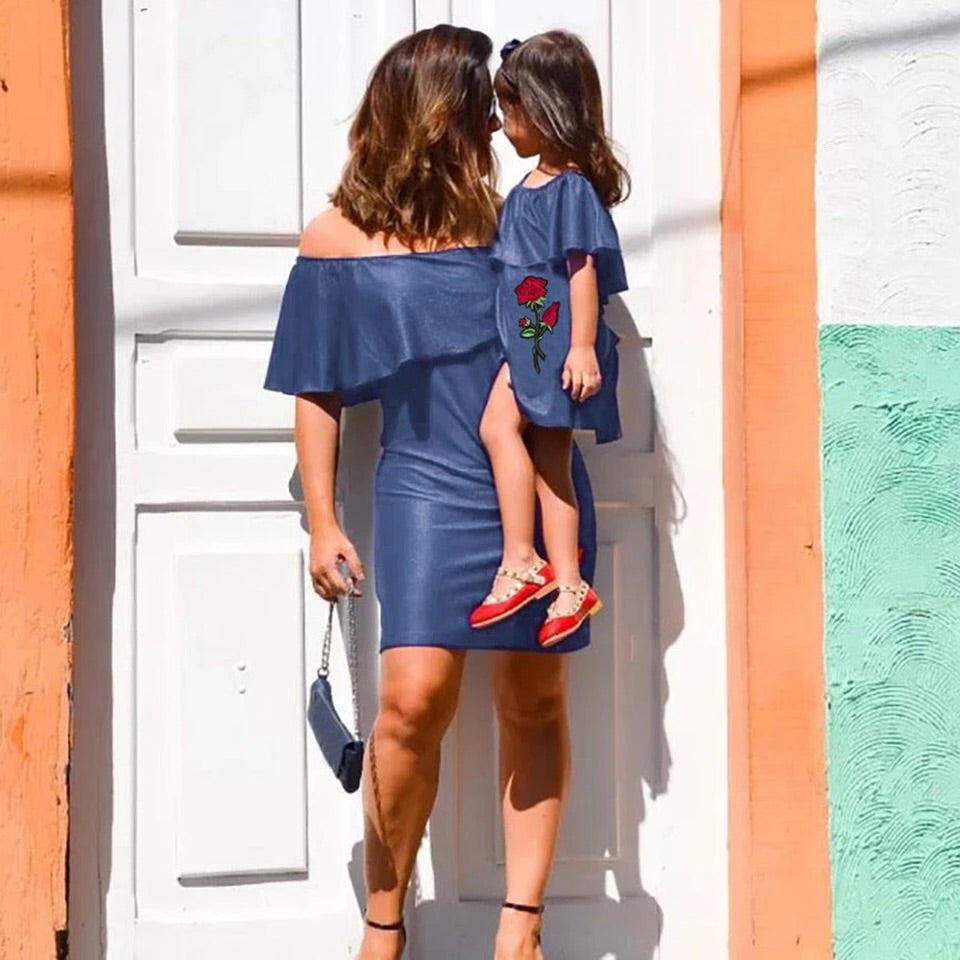 Mommy and Me Outfits - Jean Style Dresses