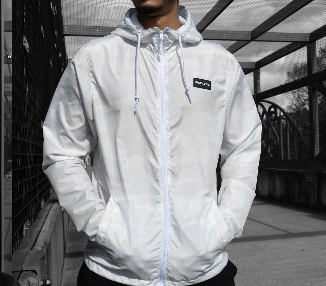 White Camo Windbreaker - Fanute
