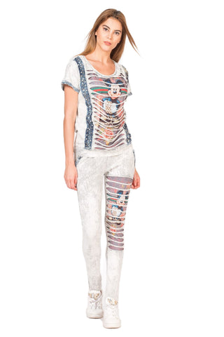 """Crazily Fashion Pearl And Glitter Embellished """"Just Do It"""" Luxe Lounge Wear Set"""