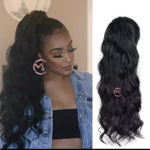 100% Bodywave Human Hair Pony Tail