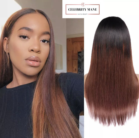 Straight Ombre Hair 1b/33
