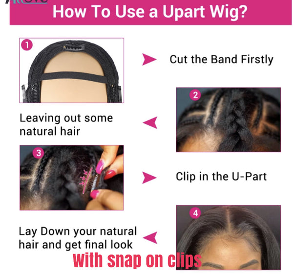 Sleek Bob U-Part Wig