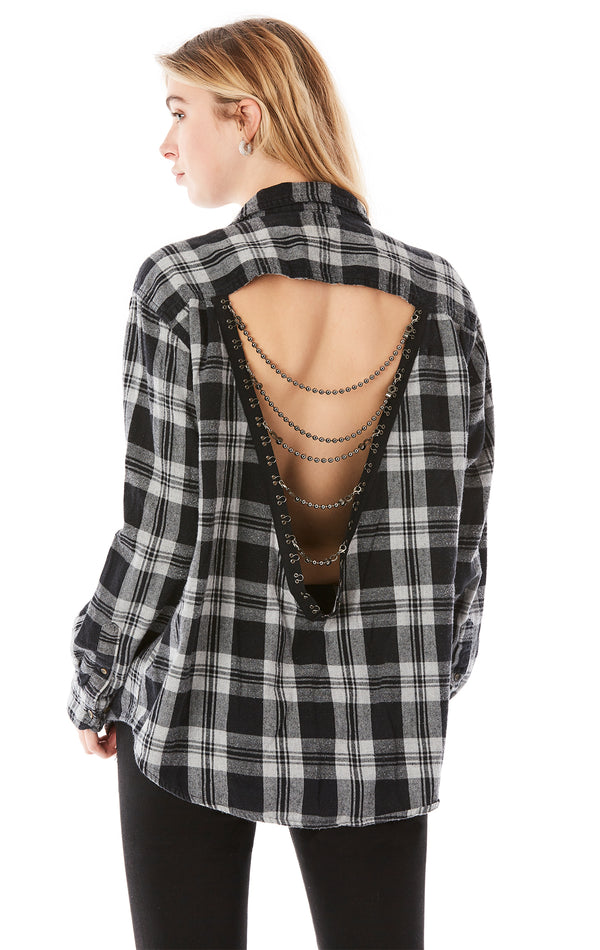 VINTAGE CHAIN LADDER BACK FLANNEL